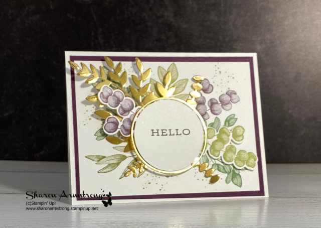 See the shine in these gold foil die cutting pieces?