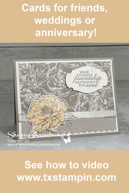 Make your best charming handmade card for a wedding, anniversary, or a friend!