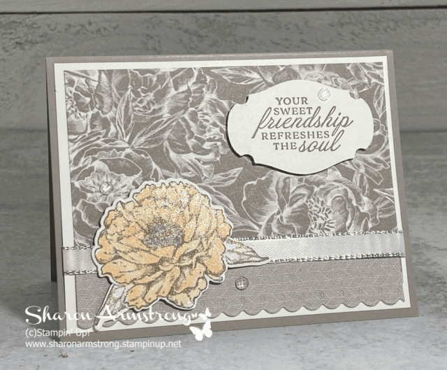 The best charming handmade card starts with beautiful designer paper and a beautiful peony