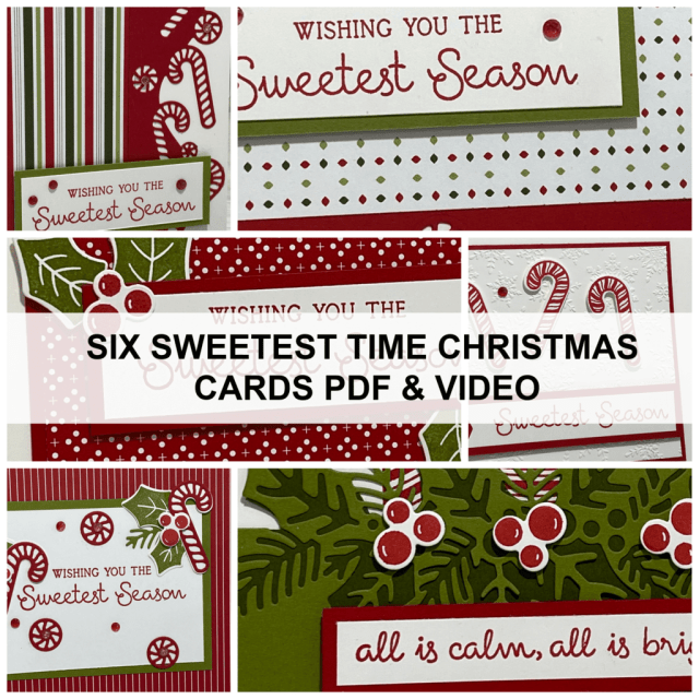 This month's card making class features the Stampin' Up! Sweetest Time bundle.