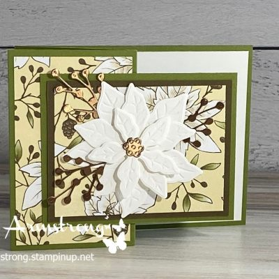 The Best Poinsettia Fun Fold Card You Can Make This Season