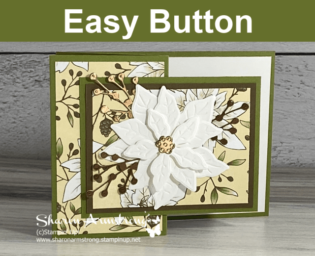 Click here to purchase supplies for your Poinsettia fun fold card