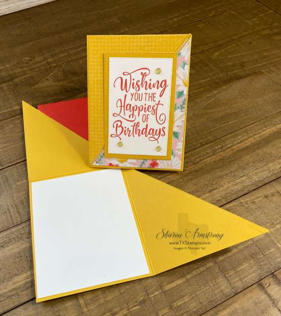 A fun fold triangle card you can make easily as handmade birthday cards.
