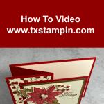 A Z-Fold Card Video Tutorial Perfect for DIY Christmas card
