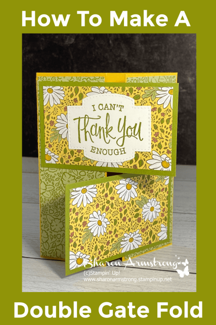 Save the instructions on how to make a double gate fold card to your pinterest board