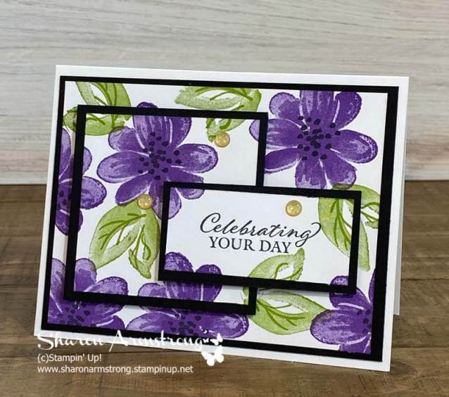 Have you ever tried triple time stamping? It's a fun card making technique