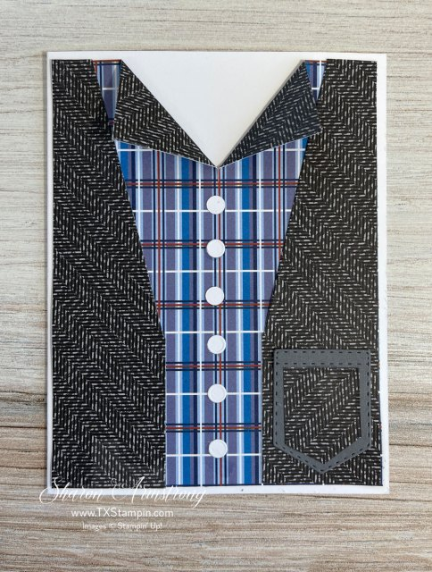 The perfect masculine card for the more casually dressed men in your life.