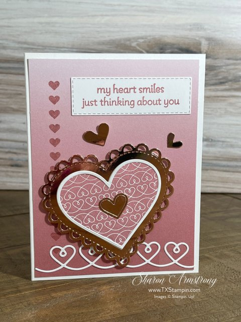 Lots of heart greeting cards can be made romantic with some foil die cuts.