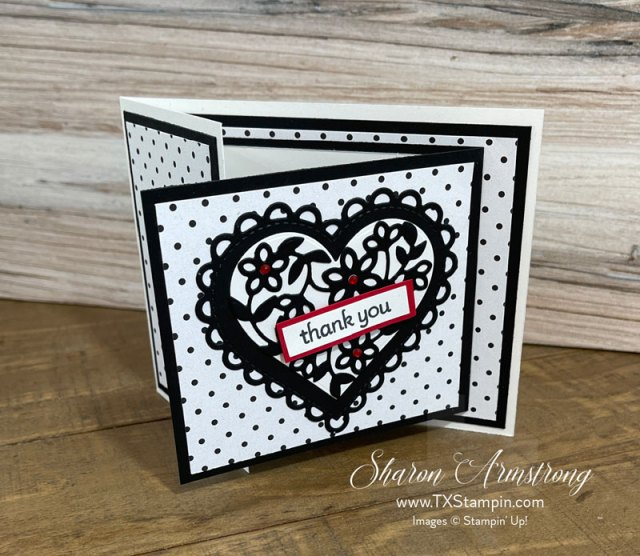Lots of heart greeting cards are perfect to make as fun fold cards.