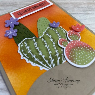 The Best Craft Blending Brushes You'll Ever Use + Flowering Cactus Cards You'll Love