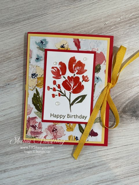 Check out this fun gift card holder made from Stampin' Up! Art Gallery stamp