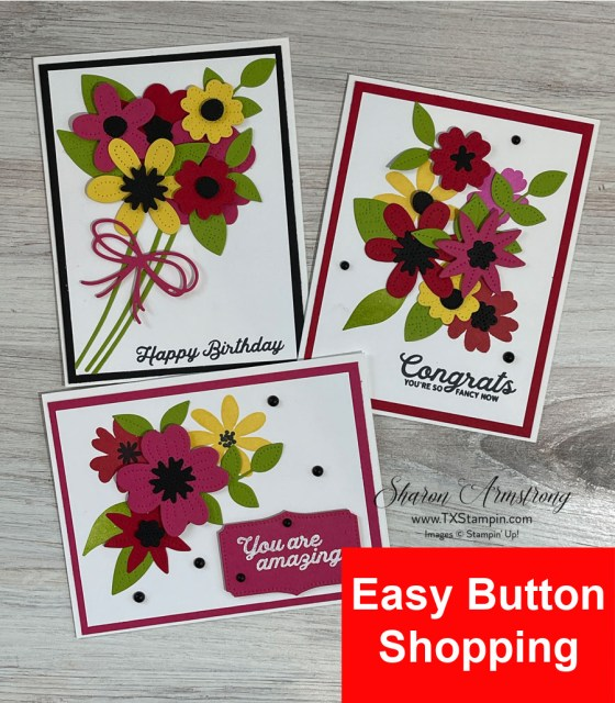 Click here for the supply list to make these spring cards.