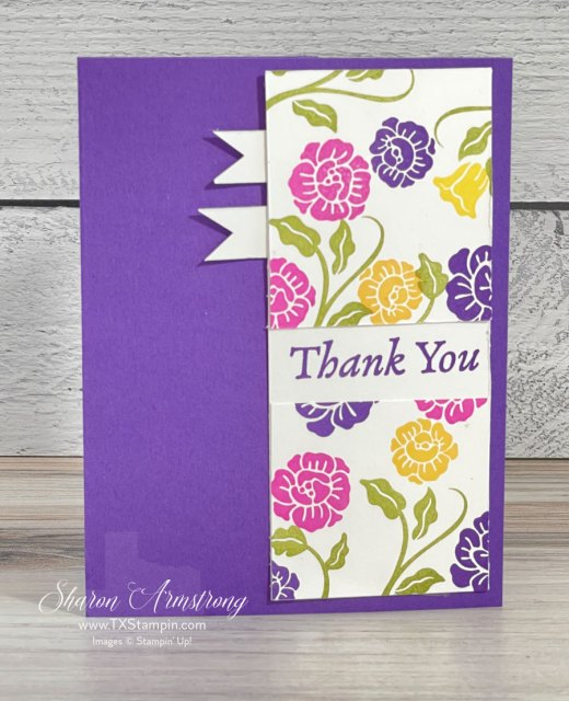 Handmade thank you cards can be made so quickly.