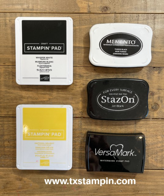 There are a number of ink pads for stamps and this guide will explain them all.