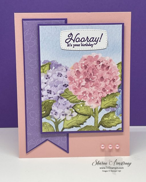 DIY Beautiful Cards is super easy when you have the Hydrangea Hill Designer Series Paper by Stampin' Up!