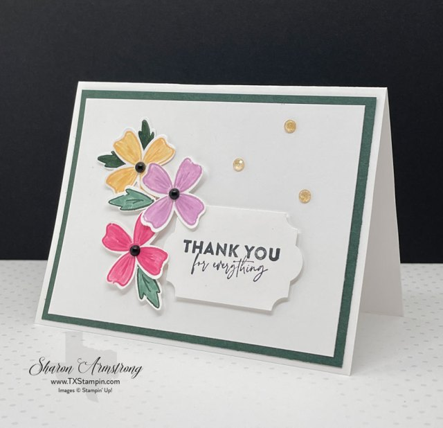 These Flowers of Friendship card features the new in-colors by Stampin Up!