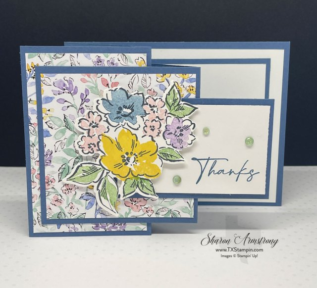 The designer series paper is the star of the show on this Z-Fold card.