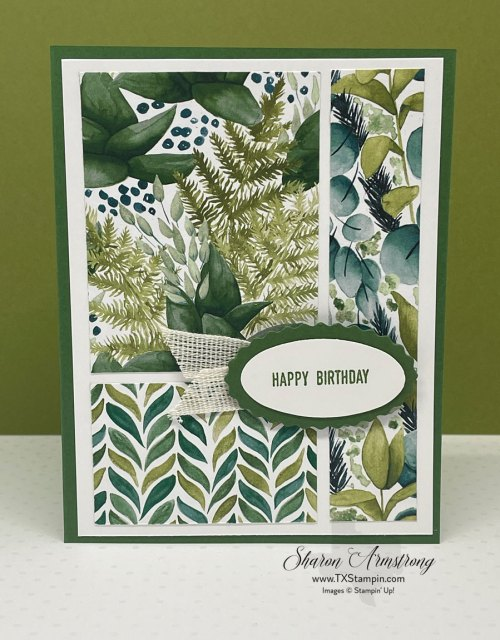 This simple card design is perfect for making a stack of Birthday cards.