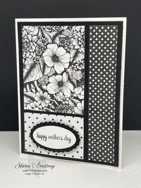 I used this simple card design for a DIY Mother's Day Card