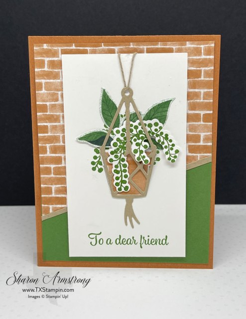Greeting cards for friends are a great time to get creative. This is a great card for your plant lovers.