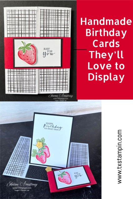 Save this birthday card idea to your Pinterest board. It's a fun gatefold easel card.