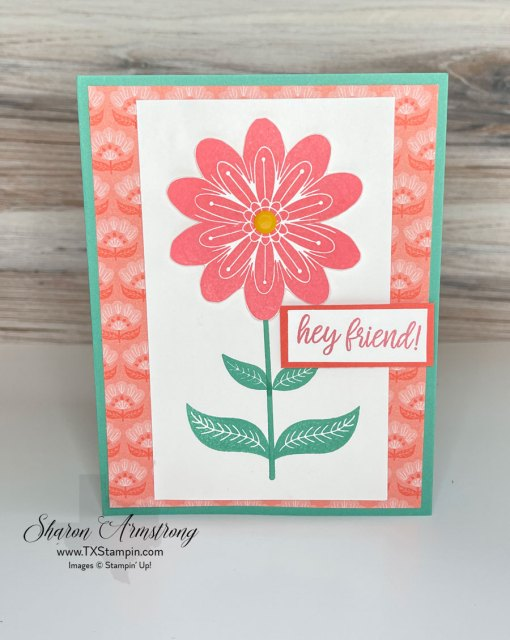 This coral flower made a great summer card for a friend.