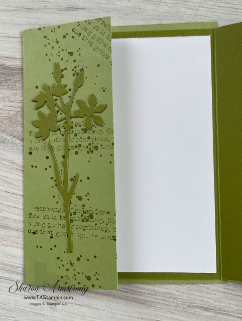 Old Olive cardstock was used for this flap fold card.