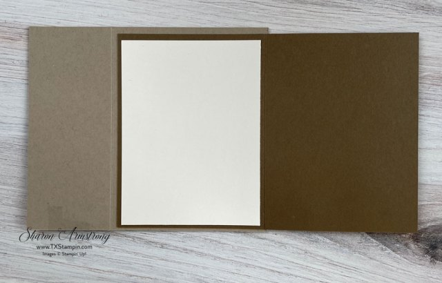 There is plenty of room with a flap fold card.
