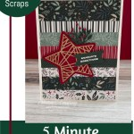 Use Paper Scraps To Make A Christmas Card in 5 Minutes