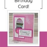 Handmade Birthday Card For Her | Easy Card Idea