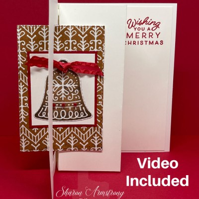 Make A Christmas Swing Card + 15 Card Tutorial Using Stampin' Up! Frosted Gingerbread