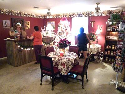 Texas Vineyard & Smokehaus - inside