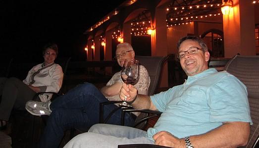 Chef Dana on left and Gerald Jones on right