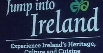 Jump into Ireland sign