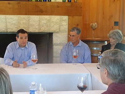 Senator Ted Cruz with Dr. Richard Becker & Bunny Becker