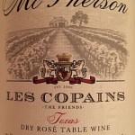 Review of McPherson Cellars Les Copains Rosé 2013