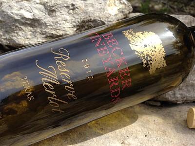 Becker Merlot bottle