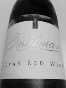 Kuhlman Cellars Texas Red Wine bottle