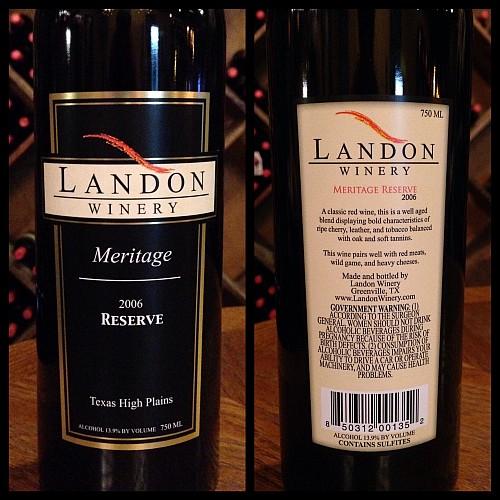 Landon Winery Meritage