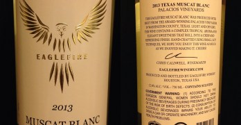 Eaglefire Winery Muscat Blanc labels