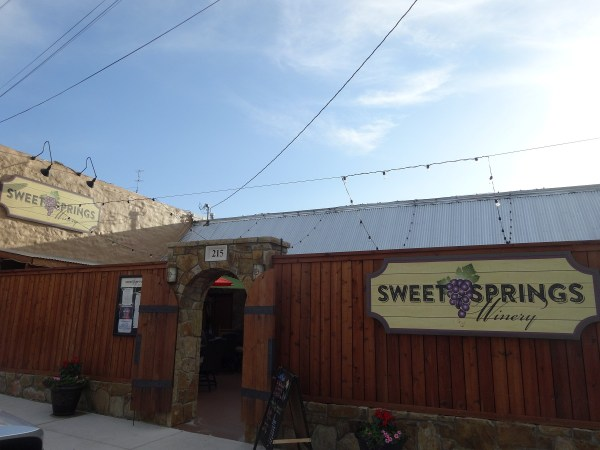 Sweet Springs Winery outside