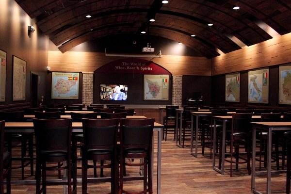 Total Wine wine room