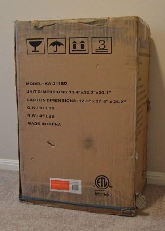 NewAir AW-211ED box