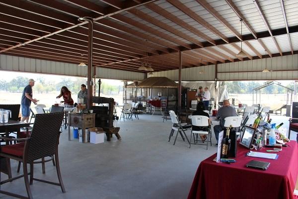 Peach Creek Vineyards paviliion