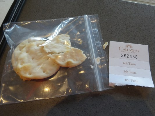 Example of crackers at a Temecula winery