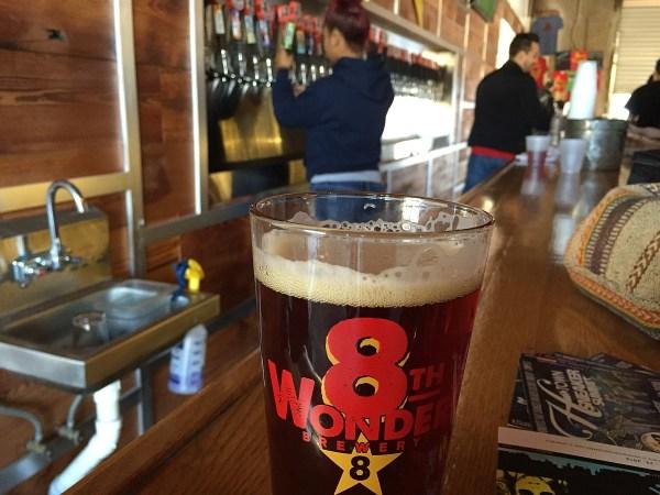 8th Wonder Brewery - beer glass