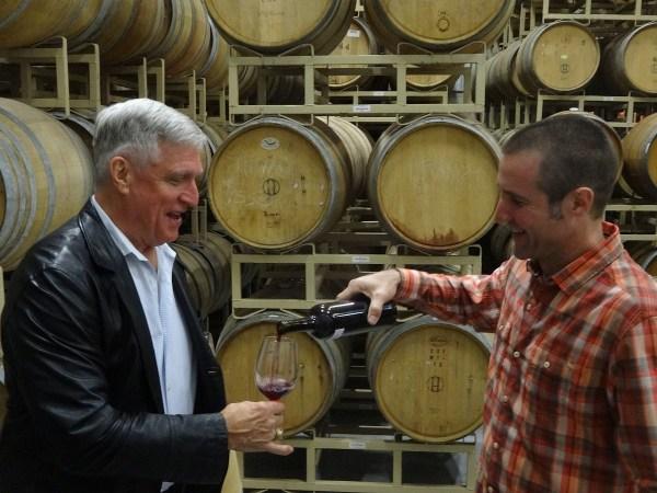 Dave Reilly pouring Aglianico