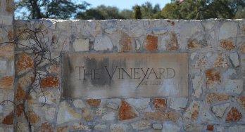 Vineyard at Florence front gate sign