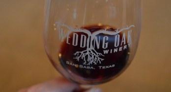 Wedding Oak Winery glass