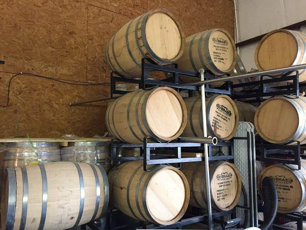 Rio Brazos Distillery barrels